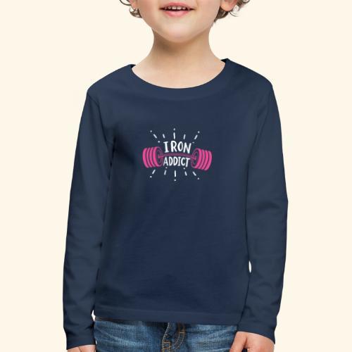 Iron Addict I VSK Funny Gym Shirt - Kinder Premium Langarmshirt