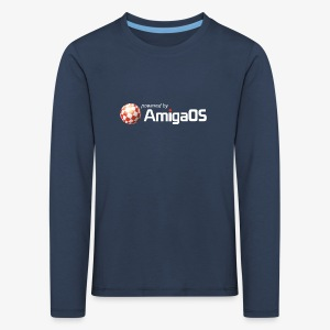 PoweredByAmigaOS white - Kids' Premium Longsleeve Shirt