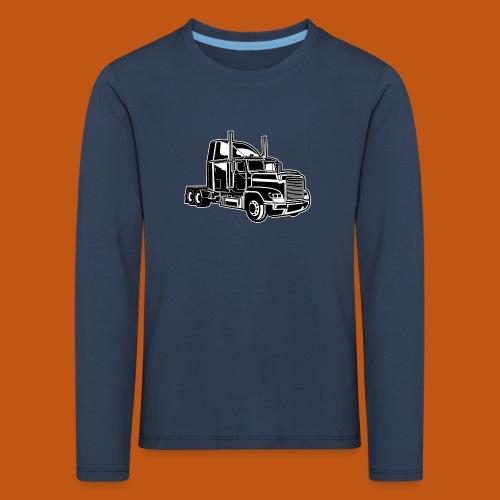 Truck / Lkw 02_schwarz weiß - Kinder Premium Langarmshirt