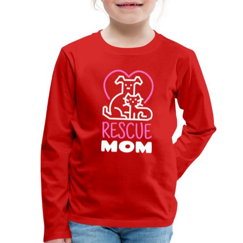 Rescue Mom - Lasten premium pitkähihainen t-paita