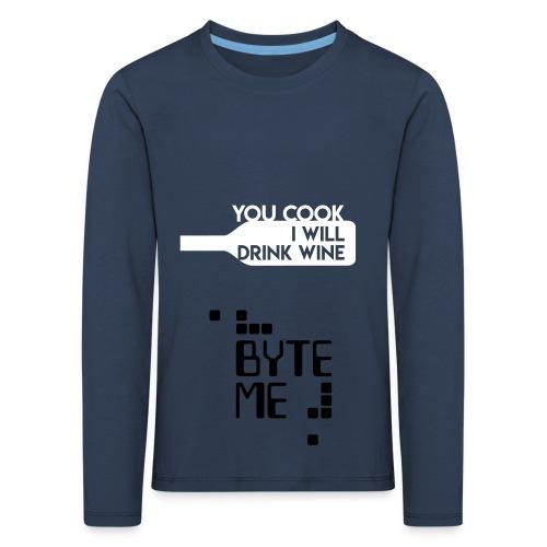 ByteMe - Børne premium T-shirt med lange ærmer