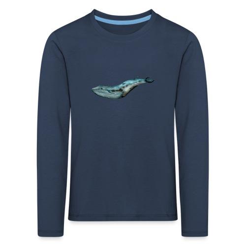 Ręcznie malowany wieloryb ocean - Koszulka dziecięca Premium z długim rękawem