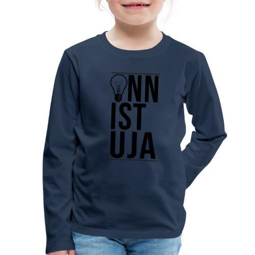 Onnistuja Musta - Lasten premium pitkähihainen t-paita