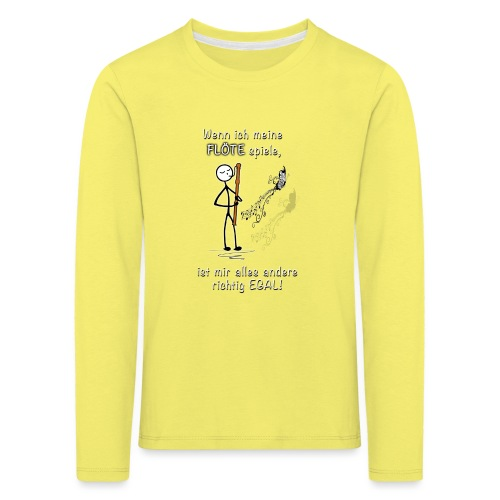 Recorder Love f. dark colours - Kids' Premium Longsleeve Shirt