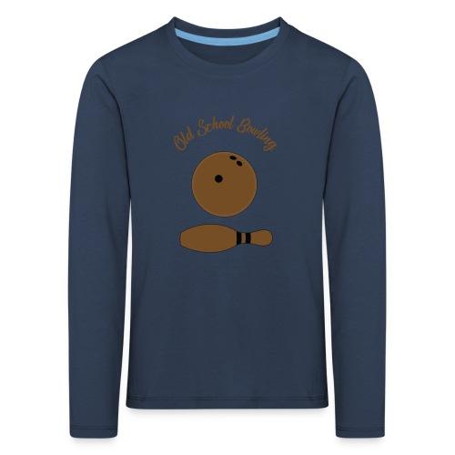 Old School Bowling - T-shirt manches longues Premium Enfant