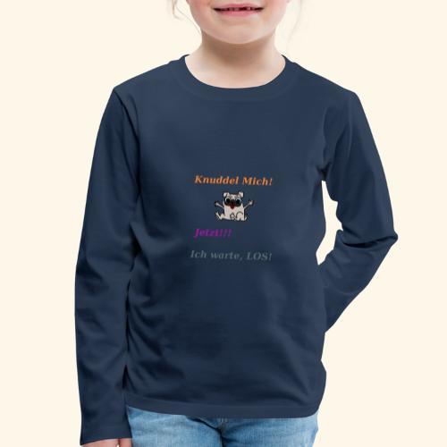Hunde Knuddeln - Kids' Premium Longsleeve Shirt