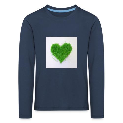 Herzrasen Button - Kinder Premium Langarmshirt