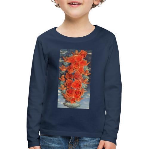 Angeli e rose - Maglietta Premium a manica lunga per bambini