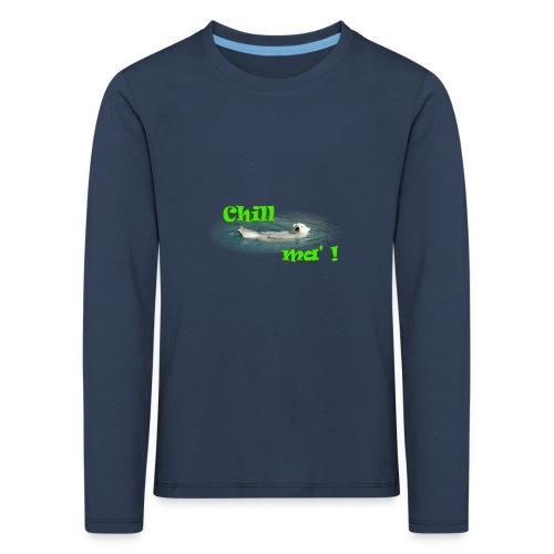 Chill ma'! - Bär - Kinder Premium Langarmshirt
