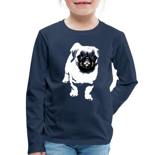 Mops Hund Hunde Möpse Geschenk - Kinder Premium Langarmshirt