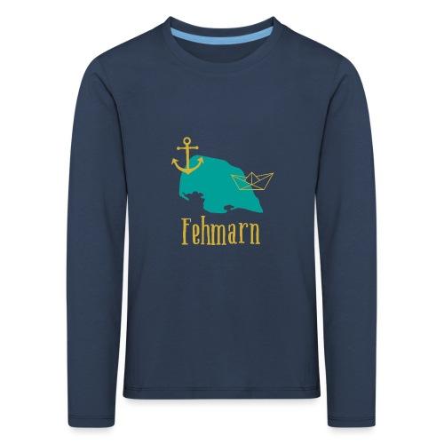 Fehmarn türkis gold Anker Boot - Kinder Premium Langarmshirt