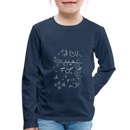Runebomme - Premium langermet T-skjorte for barn