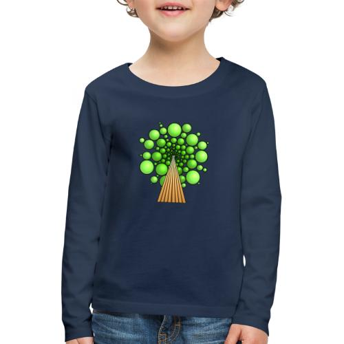 Kugel-Baum, 3d, hellgrün - Kinder Premium Langarmshirt