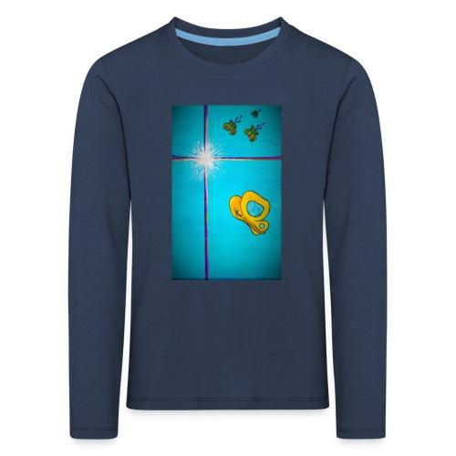 'Toivo Kultaisessa-leikkauksessa' - Lasten premium pitkähihainen t-paita