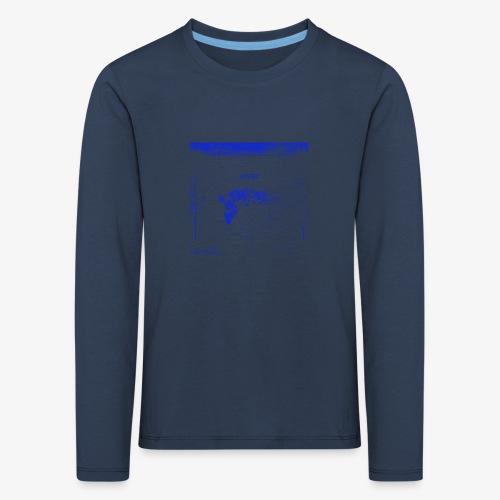 Hyena Blue - Långärmad premium-T-shirt barn