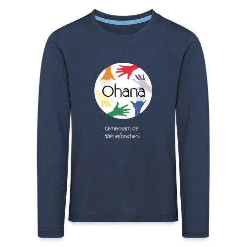 Logo mit weißem Text - Kinder Premium Langarmshirt