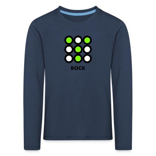 Rock - Maglietta Premium a manica lunga per bambini