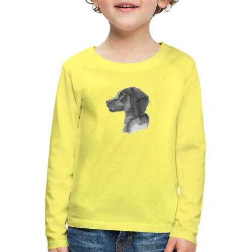 fieldTrialSpaniel - Børne premium T-shirt med lange ærmer