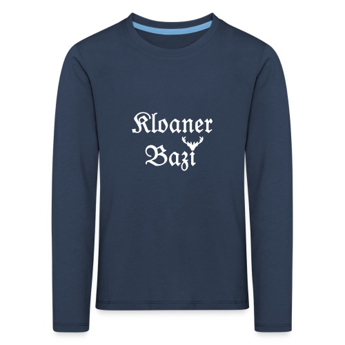 Kloaner Bazi (weiß) - Kinder Premium Langarmshirt