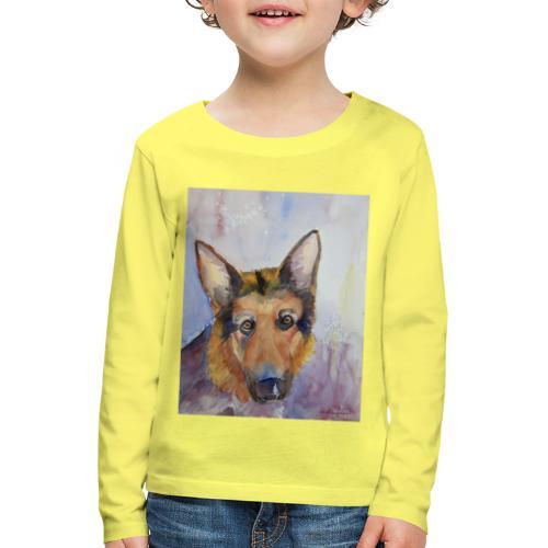 german shepherd wc - Børne premium T-shirt med lange ærmer