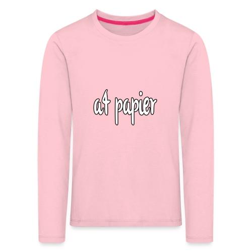 A4Papier - Kinderen Premium shirt met lange mouwen