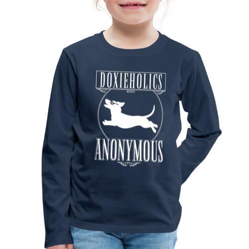 Doxieholics - Lasten premium pitkähihainen t-paita