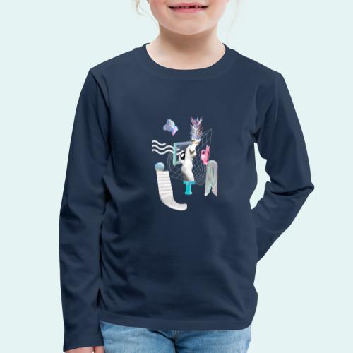 Virtual plaza - Børne premium T-shirt med lange ærmer