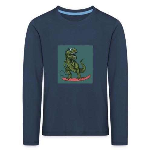 T-rex qui fait du surf - T-shirt manches longues Premium Enfant