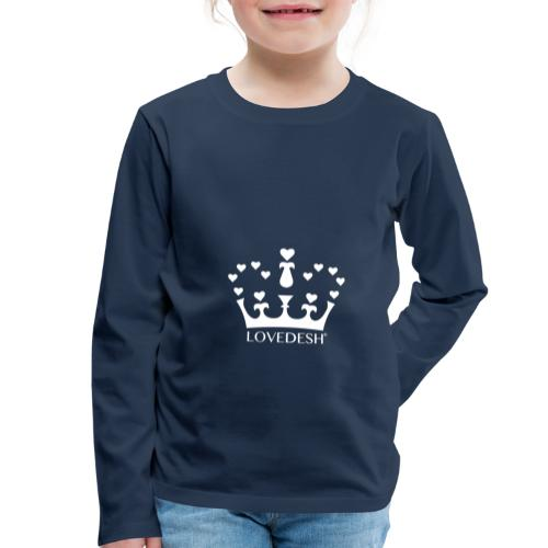 White Lovedesh Crown, Ethical Luxury - With Heart - Kids' Premium Longsleeve Shirt