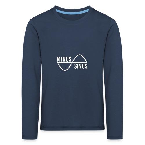 Minus Sinus Logo für dunklen Hintergrund - Kinder Premium Langarmshirt