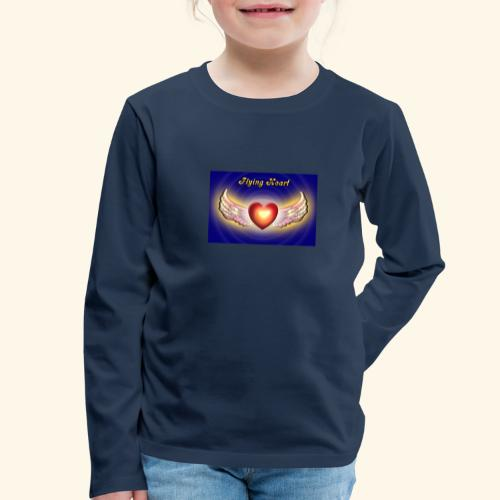 Flying Heart - Kinder Premium Langarmshirt