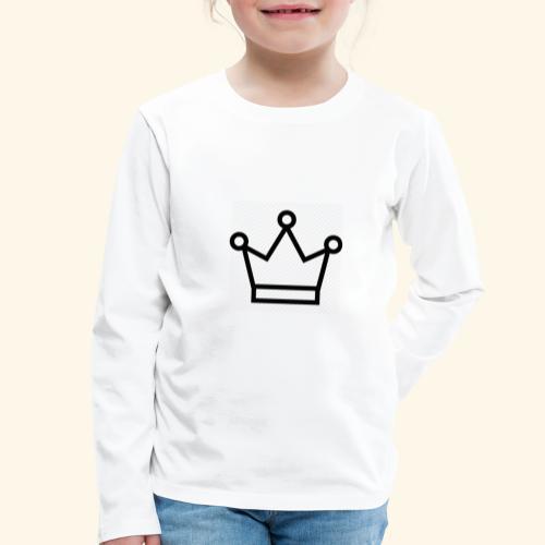 The Queen - Børne premium T-shirt med lange ærmer