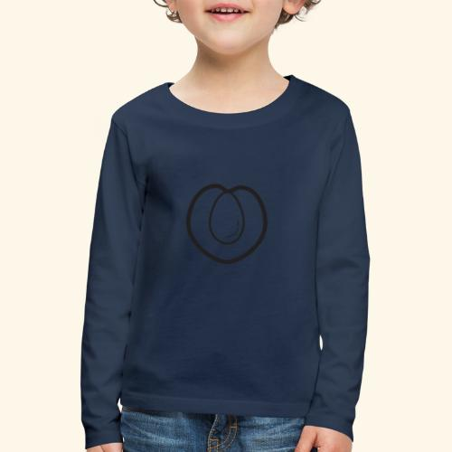fruits and veggies icons peach 512 - Børne premium T-shirt med lange ærmer