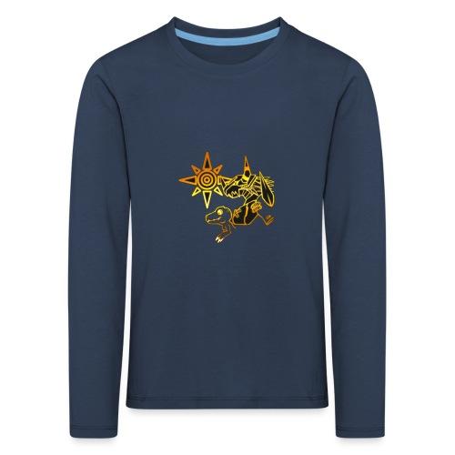 digimon - Camiseta de manga larga premium niño