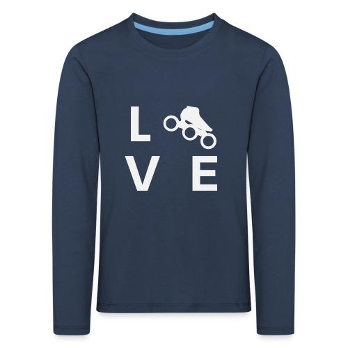 Speedskating Liebe - Kinder Premium Langarmshirt