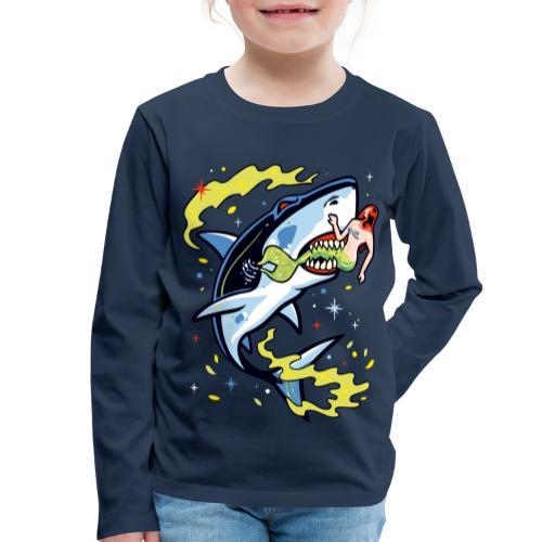 Requin mangeur de sirène - T-shirt manches longues Premium Enfant