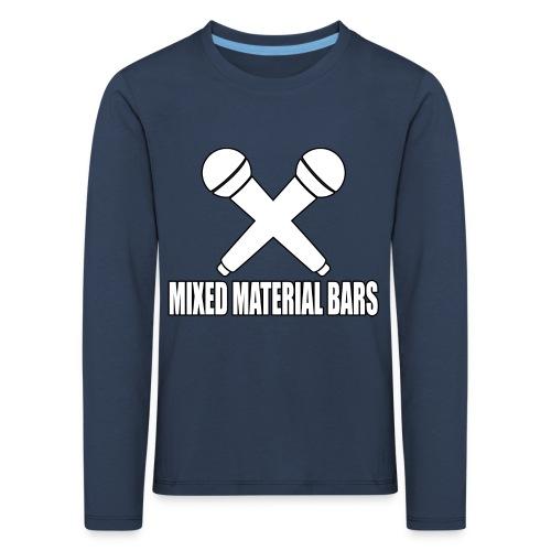 MIXED MATERIAL BARS - Kinder Premium Langarmshirt