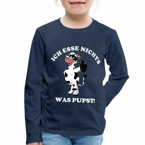 Ich esse nichts was pupst Shirt Vegetarier Veganer - Kinder Premium Langarmshirt
