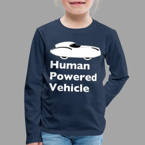 Quattrovelo Human Powered Vehicle white - Lasten premium pitkähihainen t-paita