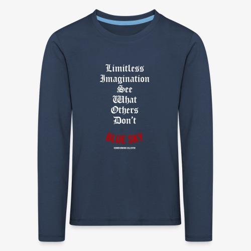 Limitless Imagination Wit - Kinderen Premium shirt met lange mouwen