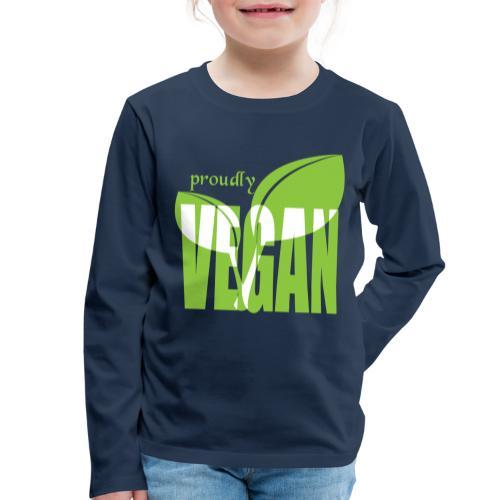 proudly vegan - Kinder Premium Langarmshirt