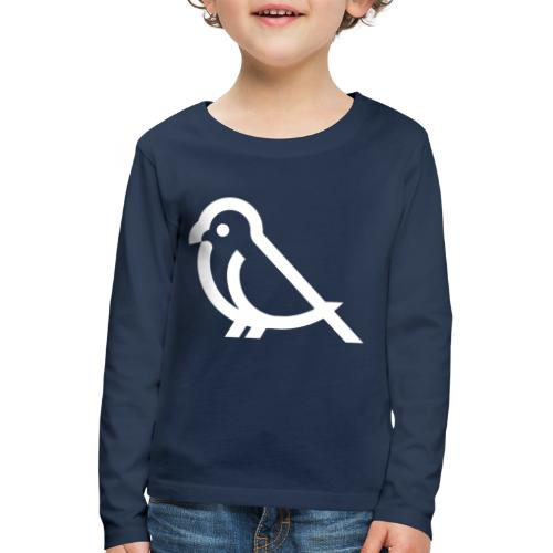 bird weiss - Kinder Premium Langarmshirt