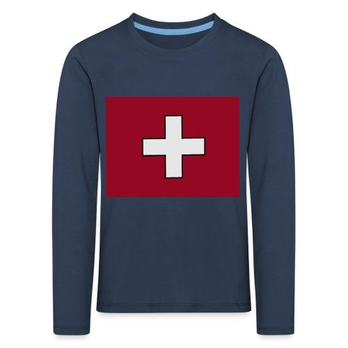 Swiss Flagge - Kinder Premium Langarmshirt