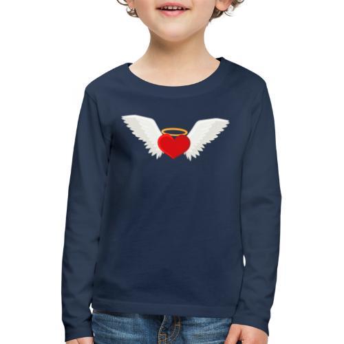 Winged heart - Angel wings - Guardian Angel - Kids' Premium Longsleeve Shirt