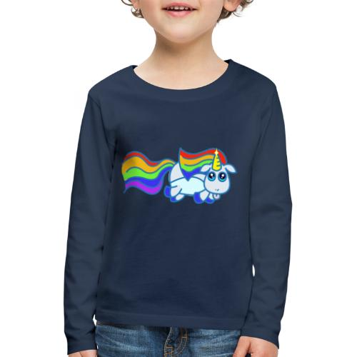 Nyan unicorn - Maglietta Premium a manica lunga per bambini