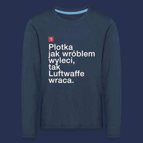 plotka - napis jasny - Koszulka dziecięca Premium z długim rękawem