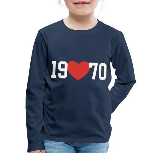 19 heart 70 - Kinder Premium Langarmshirt