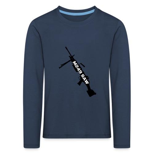 M249 SAW light machinegun design - Kinderen Premium shirt met lange mouwen