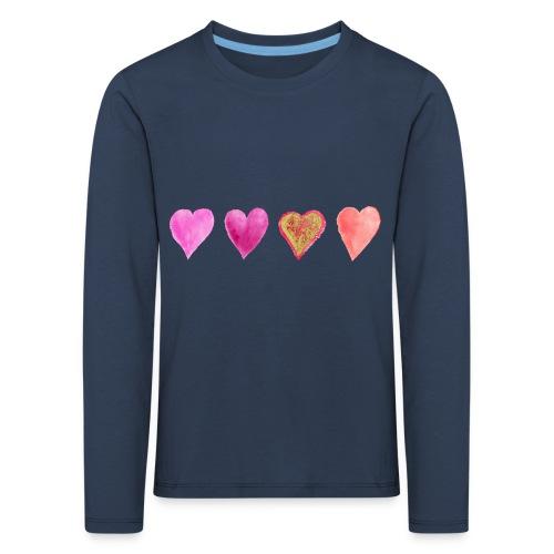 Herzen - Kinder Premium Langarmshirt