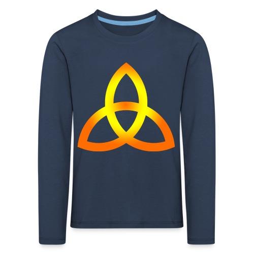 Orangegoldene Triquetra - Kinder Premium Langarmshirt